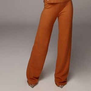 Pants - J Lux Label Rust Elle Flare Leg Sweater Pants *NWT